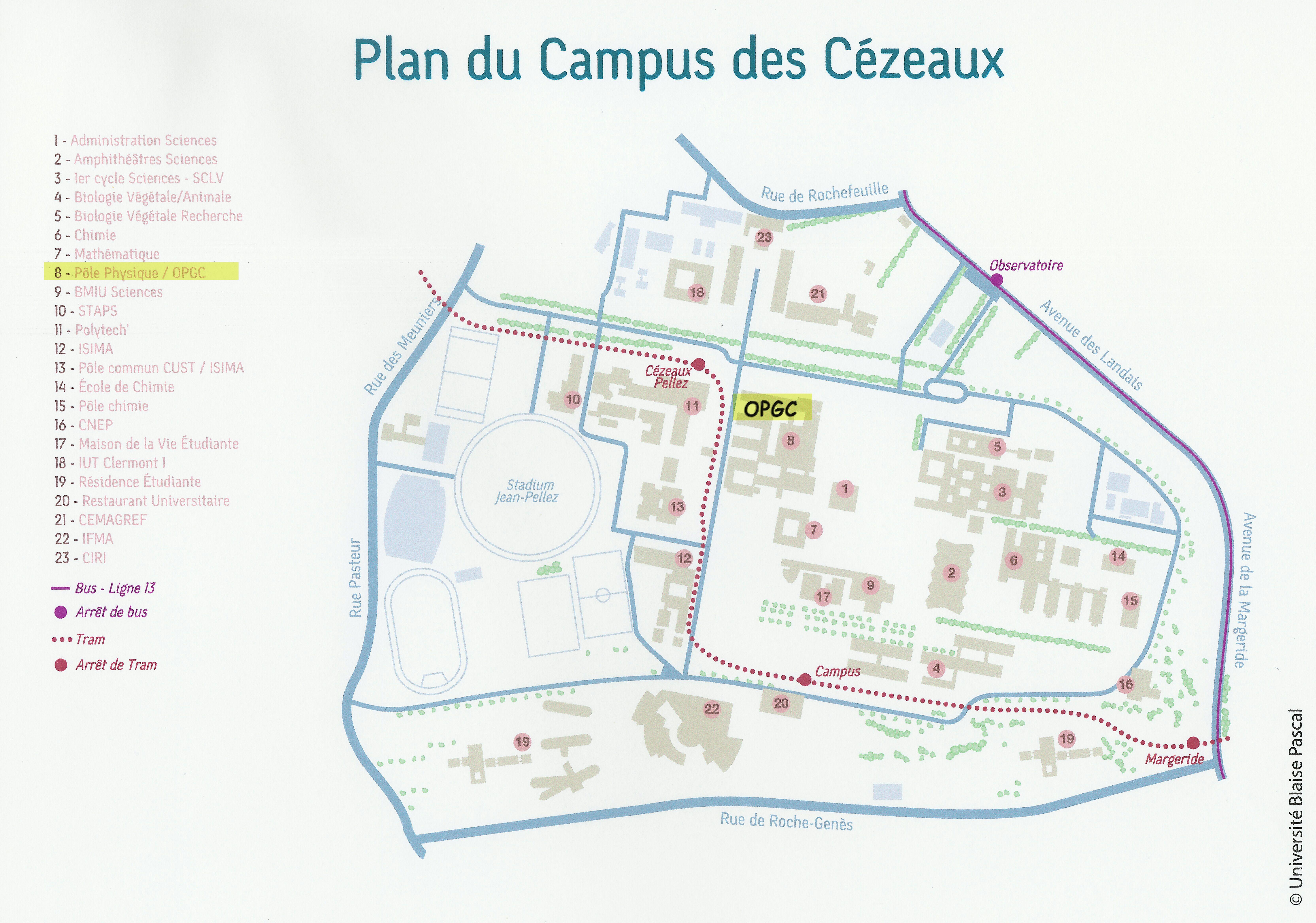 Carte Campus Bordeaux.Plan D Acces